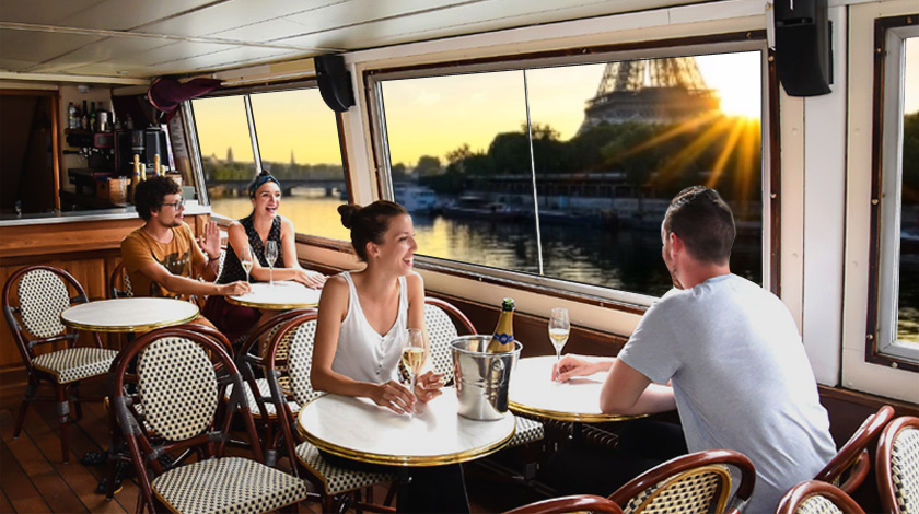 seine champagne cruise in paris. Black Bedroom Furniture Sets. Home Design Ideas